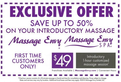 massage envy coupons