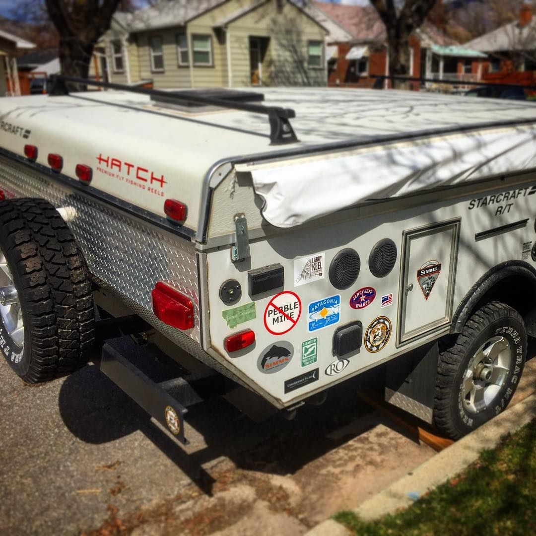 Heavy Duty Seriously Bad A Pop Up Camper It S Got A Rack In The