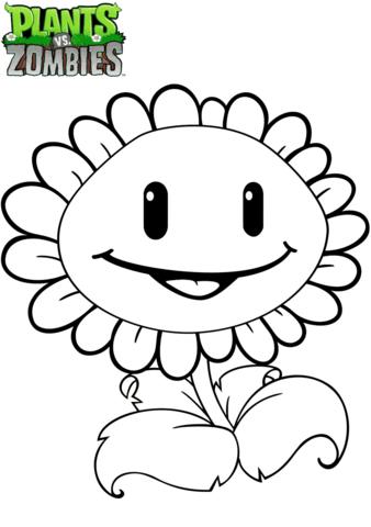 Plantas Vs Dibujo De Zombis Girasol Para Colorear Sunflower Coloring Pages Plants Vs Zombies Birthday Party Sunflower Colors