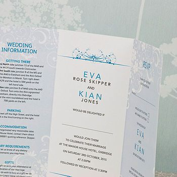 Smile Three Fold Wedding Invitation Unique wedding invitation