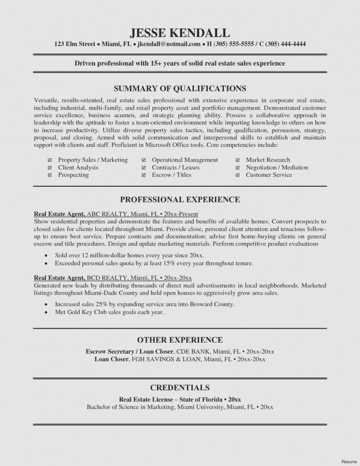 Real estate agent job description for resume interesting