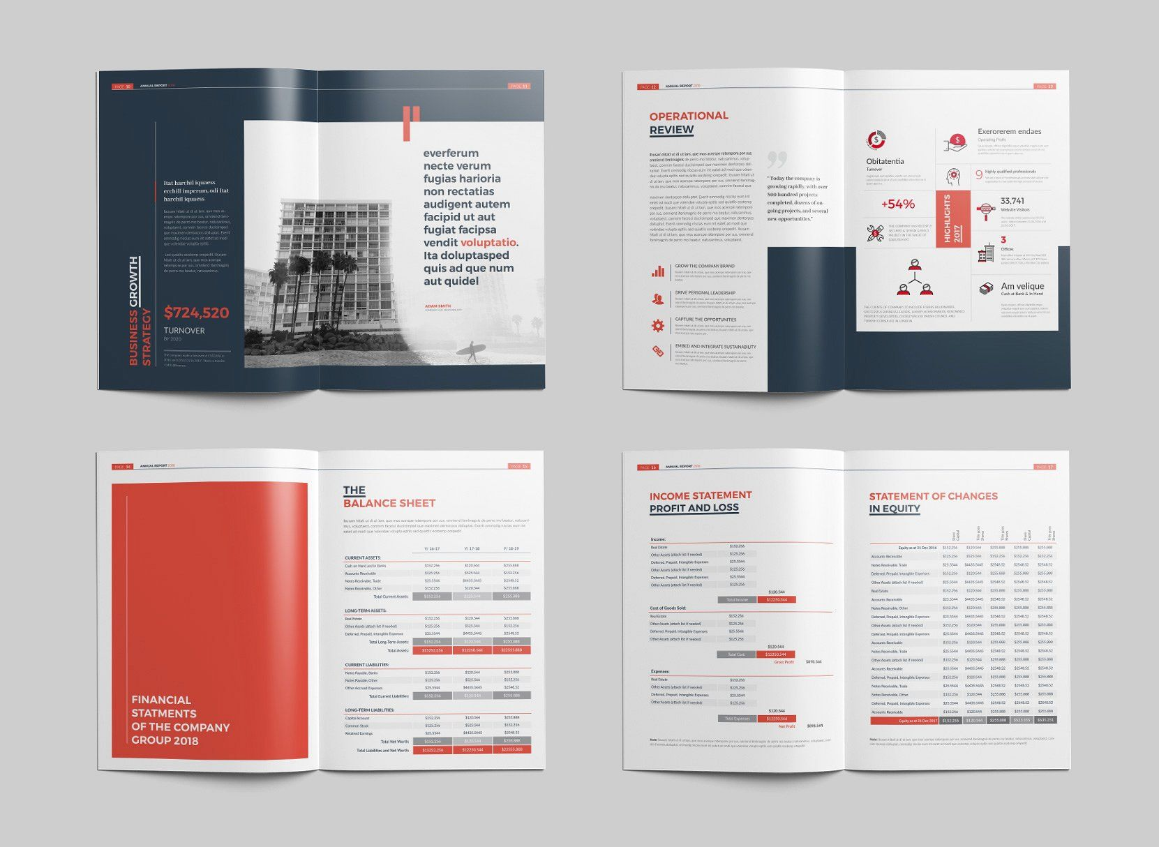 Annual Report 24 Pages By Brochuresfactory On Creativemarket