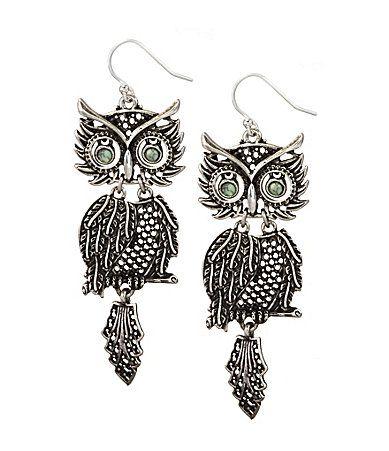 Lucky Brand Shaky Owl Earrings Dillards