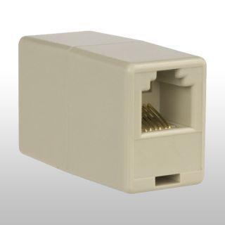 Leviton C0250-I In-Line Phone Cord Coupler Ivory