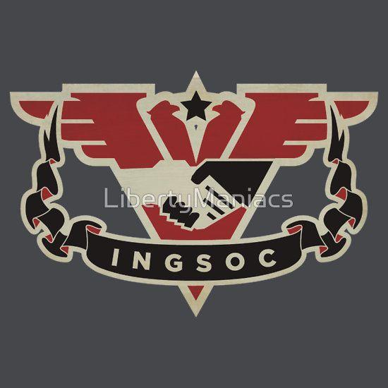 1984 Ingsoc Emblem T Shirt By Libertymaniacs Liberty Flag