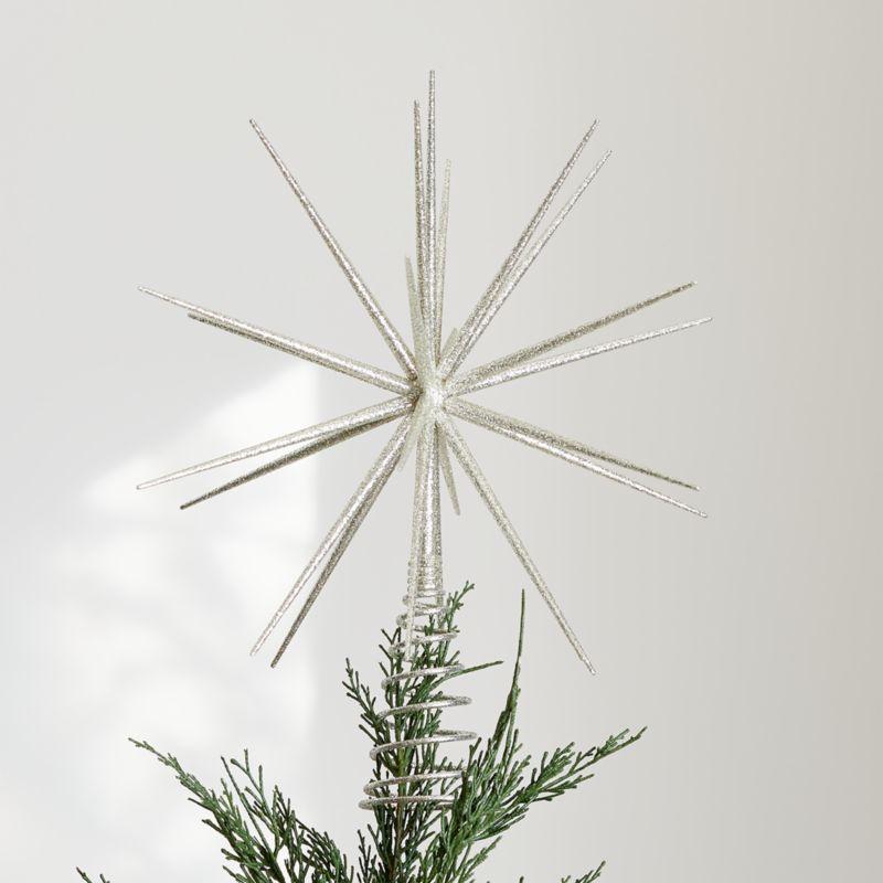 Shop Glitter Silver 3d Star Tree Topper This Tree Topper Radiates