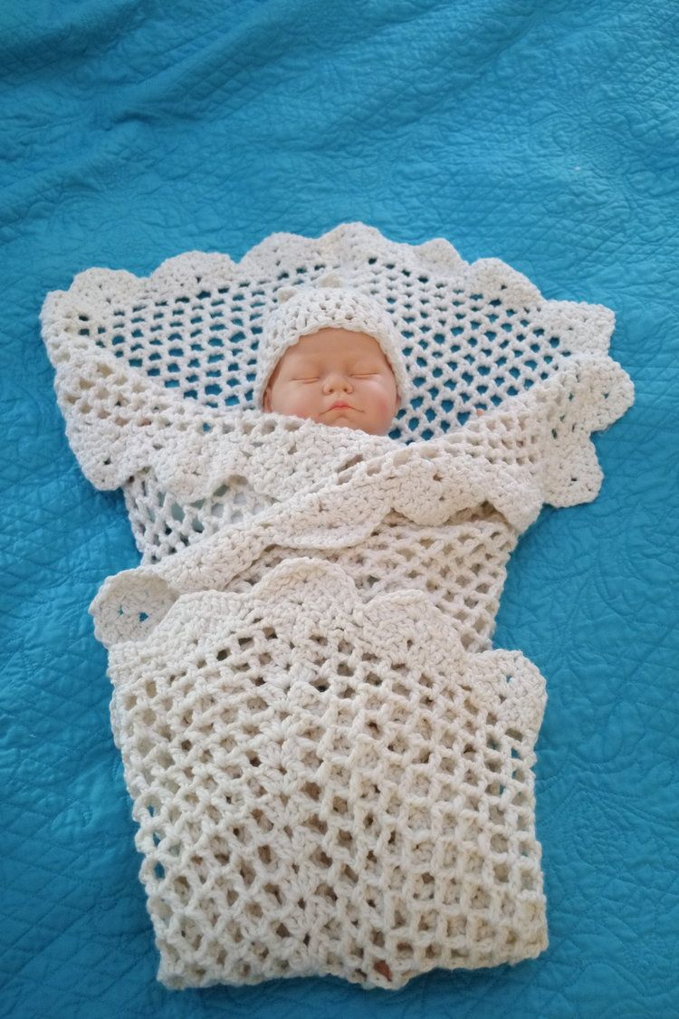Mar 22 Grace Tender Baby Blanket and Hat Easy FREE Crochet Patterns
