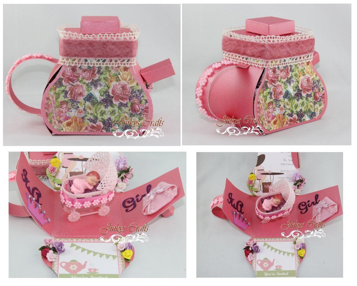 10 pcs Set Baby Booties Exploding Invitation Box (Birthday, Baby ...