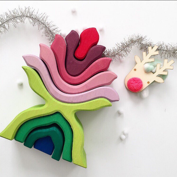 TLPAdventCalendar Door 9 is open! How beautiful is this puzzle? Piece by piece we're filling childrens' rooms with color that sparks imagination @grimmswoodentoys @grimmstory