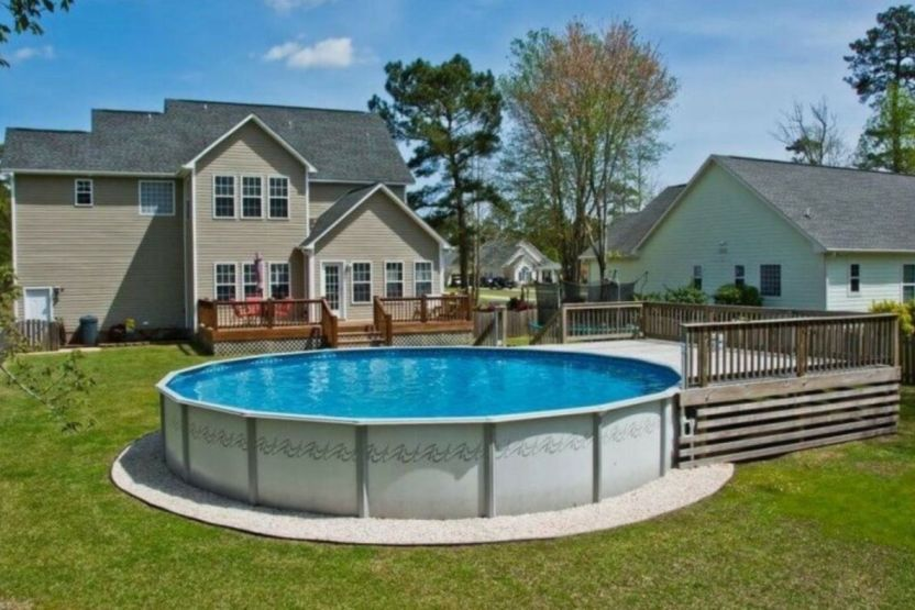 Above Ground Pool Deck Ideas In 2020 Best Above Ground Pool Above Ground Pool Landscaping Above Ground Pool Decks