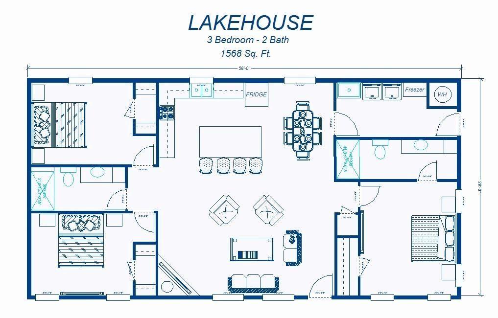 Free Two Bedroom House Plans Elegant 2 Bedroom House Simple Plan In 2020 Simple Floor Plans Metal House Plans Barndominium Floor Plans