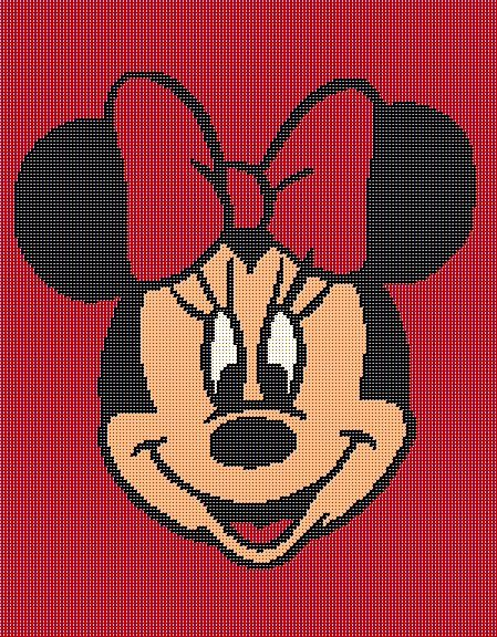 $5 - Minnie Mouse Disney - Crochet Afghan Blanket Pattern