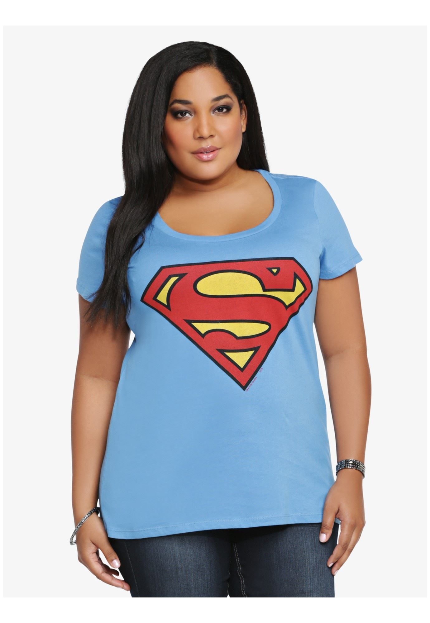Plus Size Superman Graphic Tee
