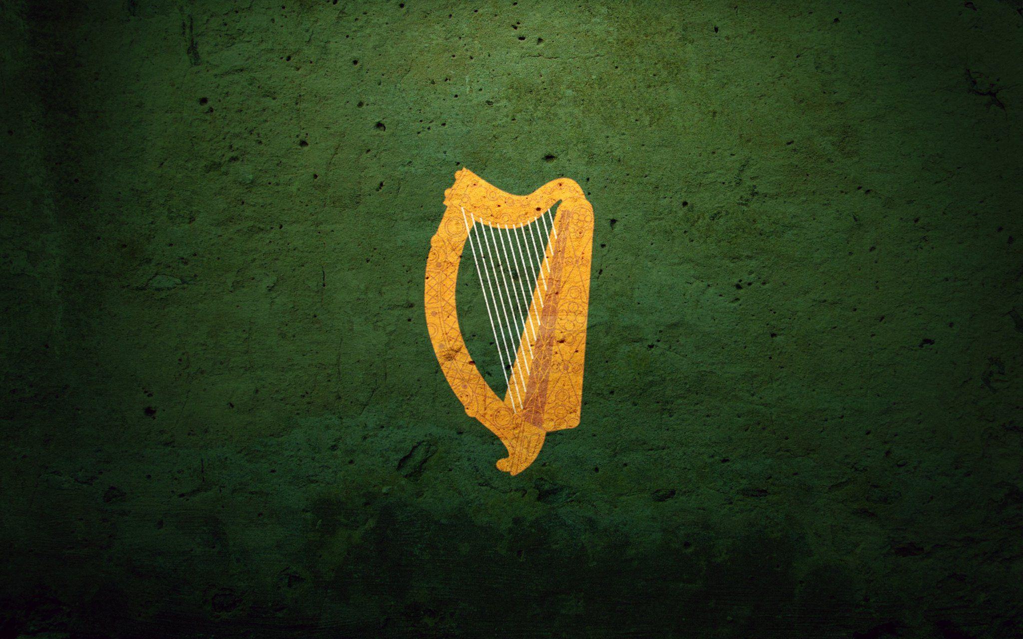 Utr Tal32 Hhh Irish Flag Irish Harp Iphone Wallpaper Images