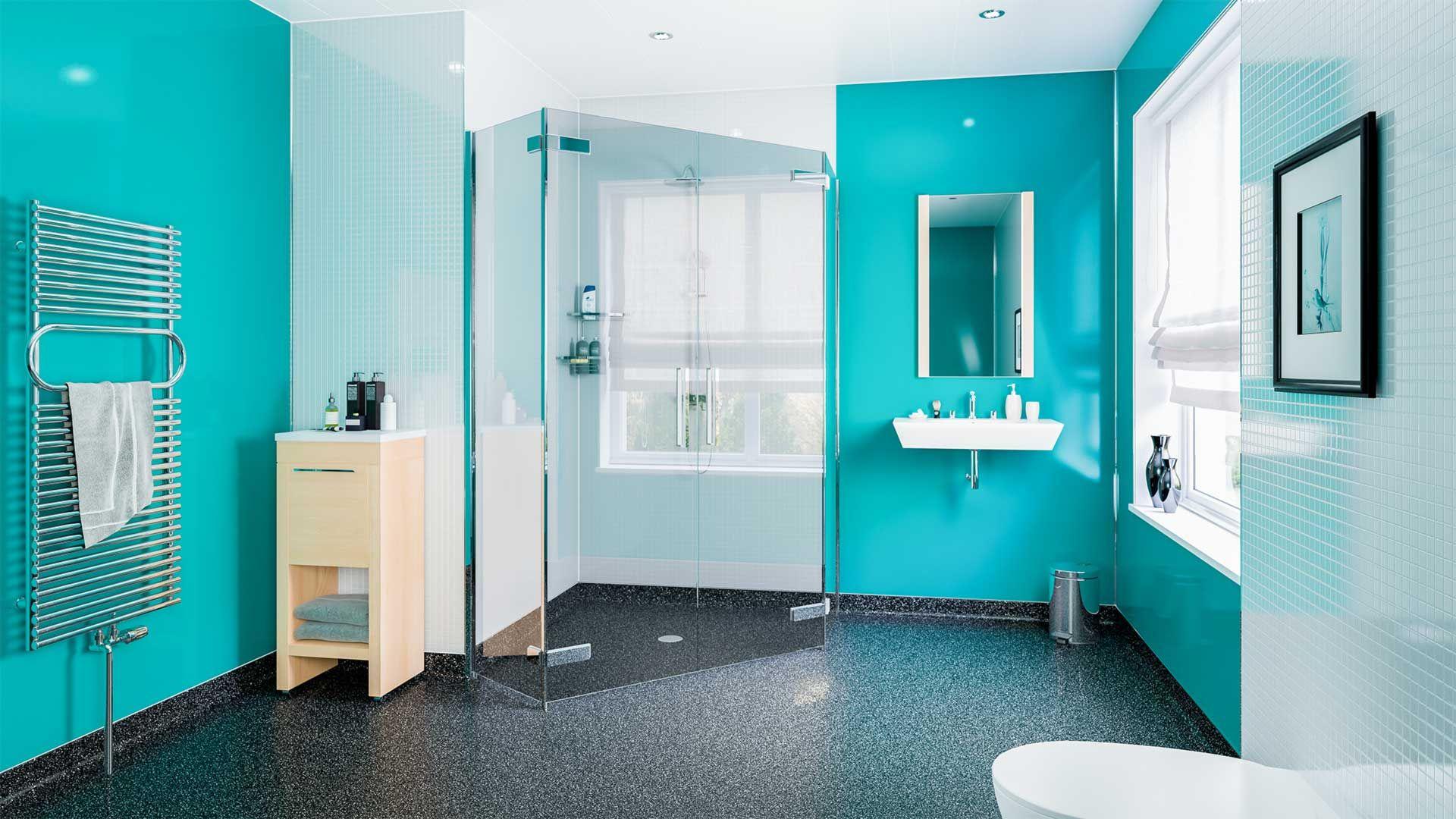 pc023 aqua green 25mm hygienic pvc wall cladding sheets