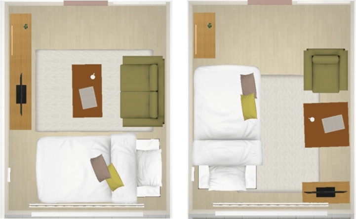6畳1kの一人暮らしの部屋 家具やインテリアのレイアウトとアイテム別のポイント 6畳 インテリア インテリア ベッドルーム レイアウト
