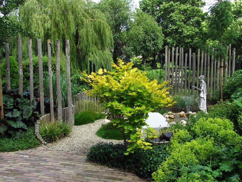 Tuinontwerp bostuin klein google zoeken tuin en moestuin pinterest zoeken - Hek begroeide ...