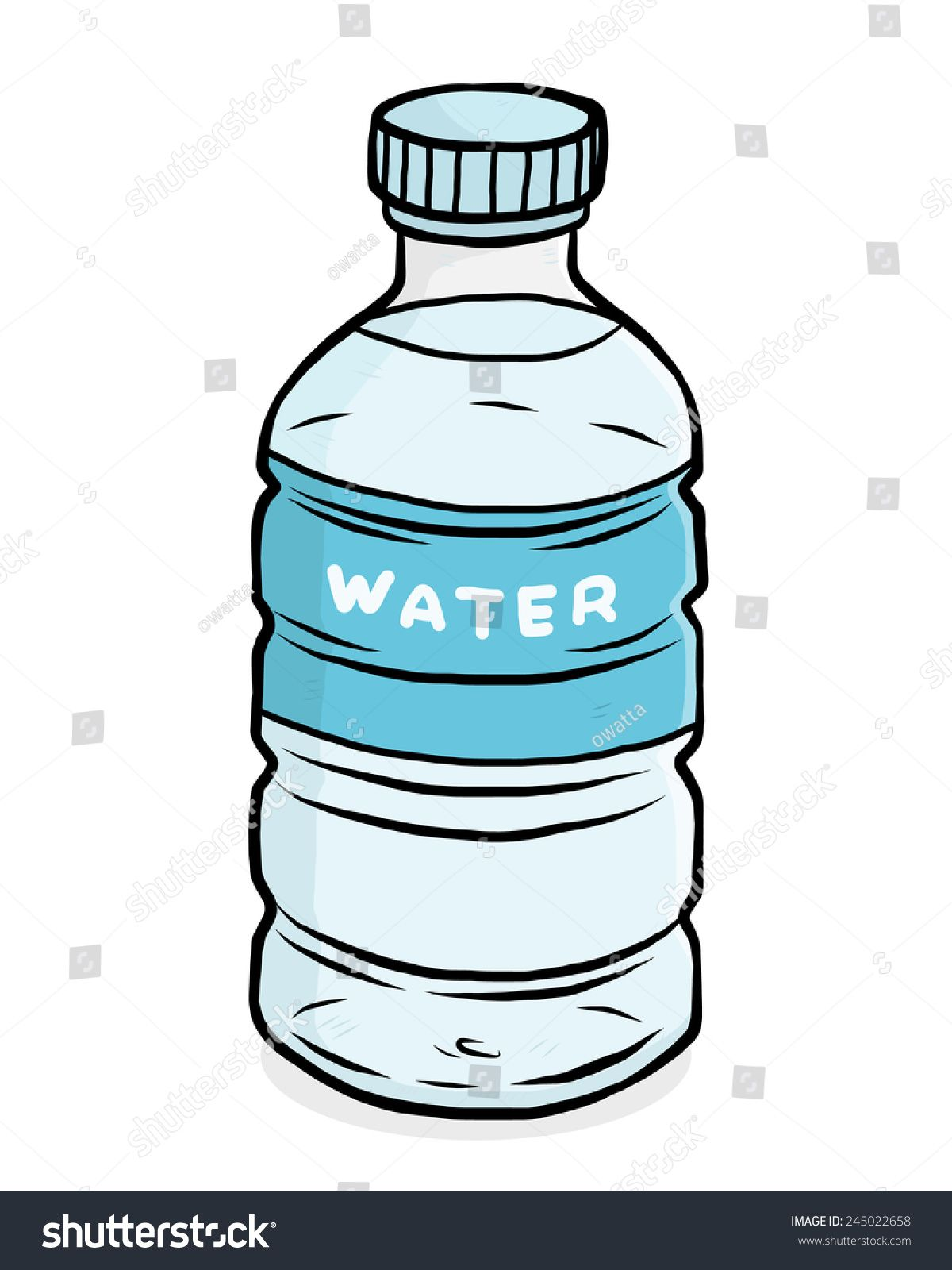 Water Plastic Bottle U002f Cartoon Vector And Illustration Hand Drawn Style Isolated On White Background Ad Bottle Drawing Water Bottle Drawing Bottle