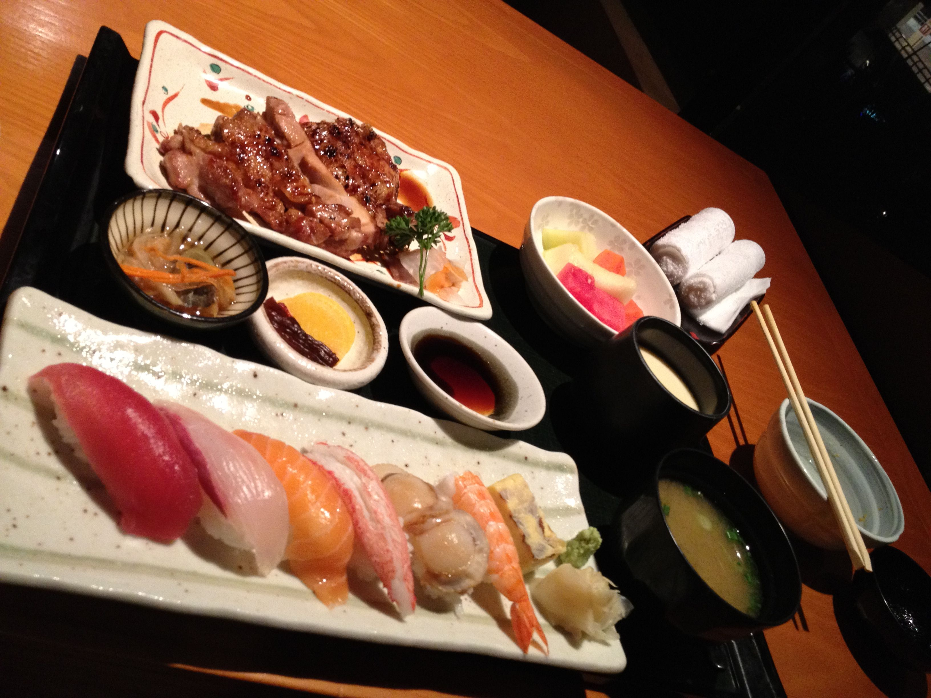 Sushi Chicken Set @ KURA
