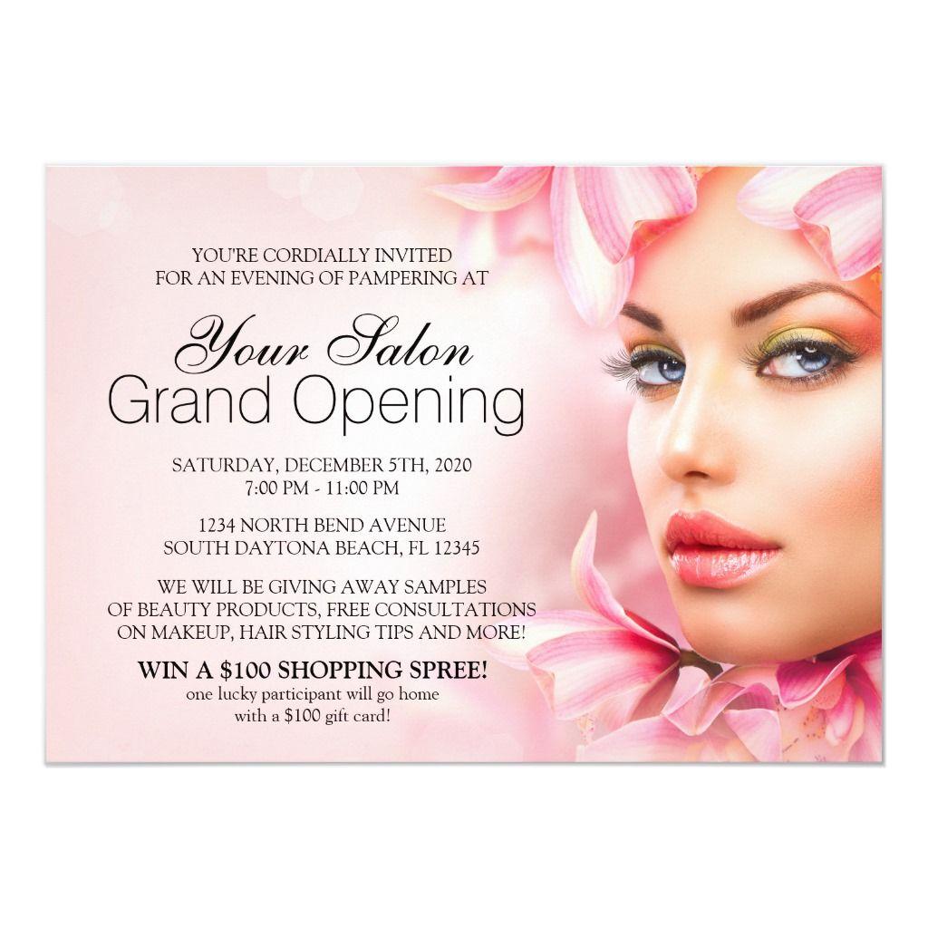 Salon And Spa Grand Opening Invitation Zazzle Com Grand Opening Invitations Grand Opening Spa Salon