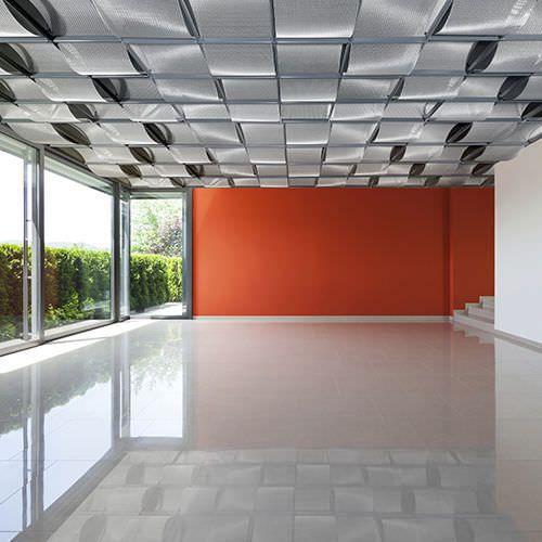 Falso techo decorativo ac stico de acero inoxidable - Falsos techos decorativos ...