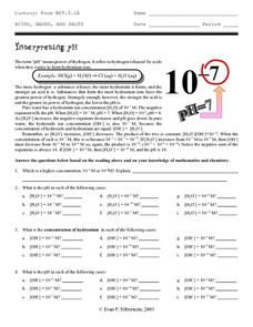 Ph Worksheet Answers - worksheet