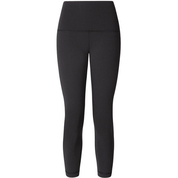 90ae4355d1 Lululemon Wunder Under Crop (Hi-Rise) Black lulu fanatics ($36) ❤ liked on  Polyvore featuring lululemon