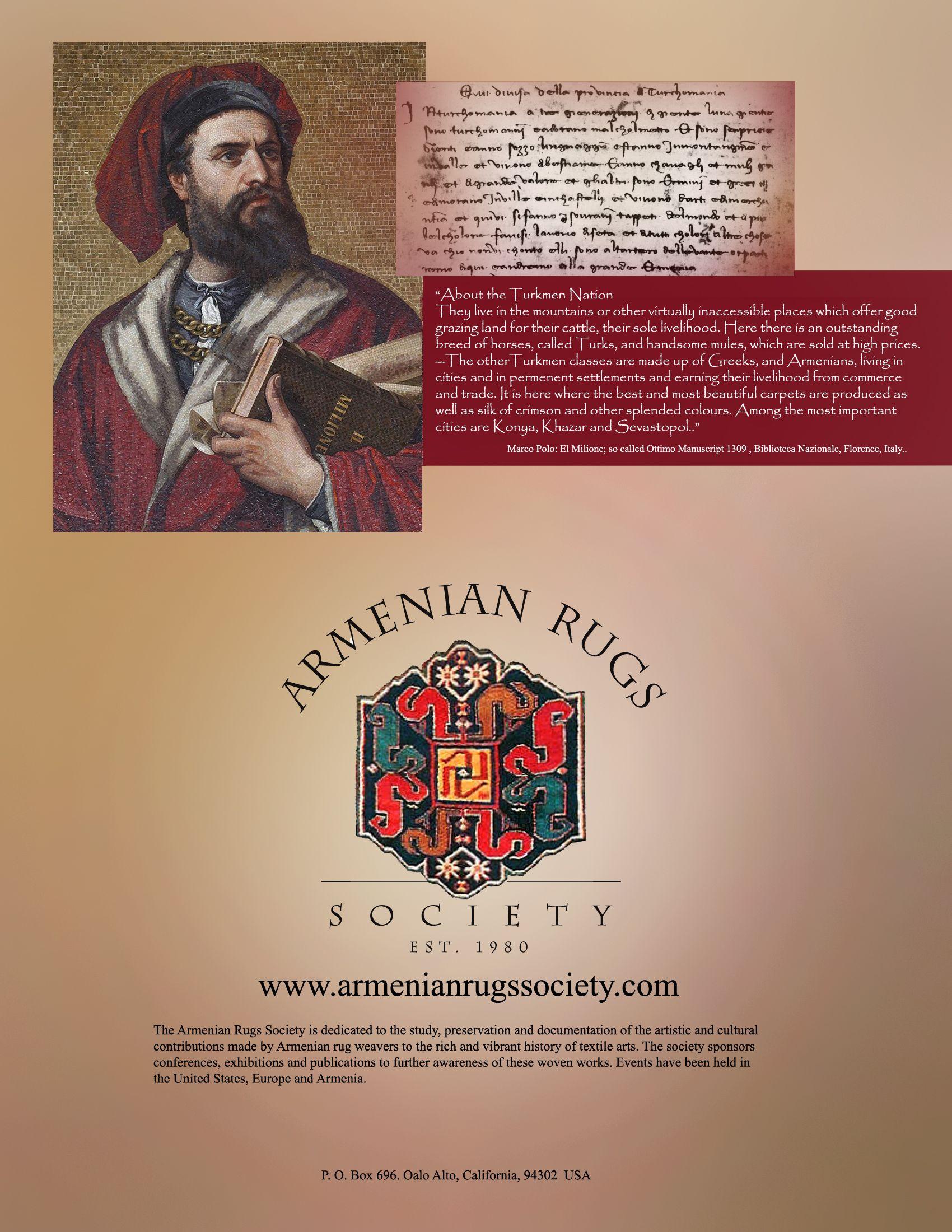 Marcopolo Armenianrugs Textile Art Book Cover Eastern Europe