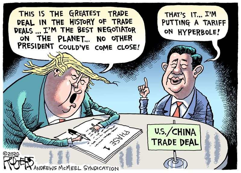 China Trade Deal Comic Book Cover Hyperbole Rogers
