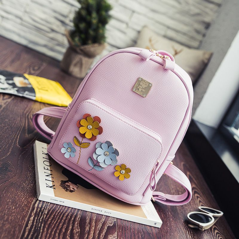 Find More Backpacks Information about The new cute sweet PU backpack fresh floral decoration girl favorite,High Quality flowers backpack,China backpack lowepro Suppliers, Cheap flower girl dresses winter from GengNan store on Aliexpress.com