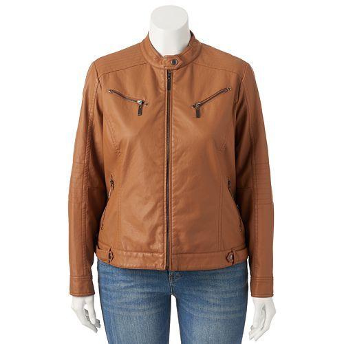 1073110af79ec Juniors  Plus Size J-2 Faux-Leather Jacket