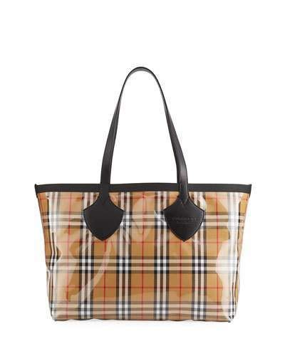 849d5ed049d1 Burberry Giant Transparent Vintage Check Tote Bag | Products | Tote ...