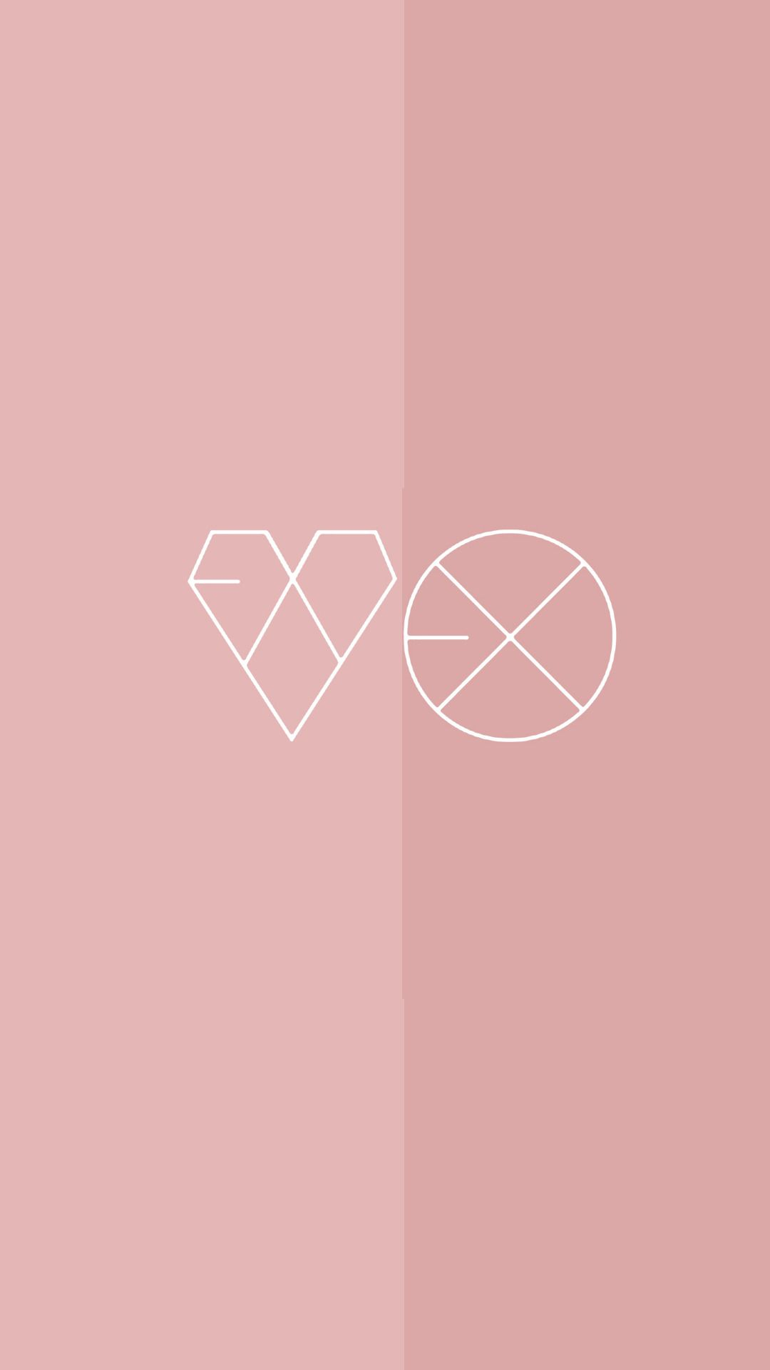 Exo Lockscreen Edits Tumblr Exo Lockscreen Aesthetic Wallpapers Exo Logo Wallpapers