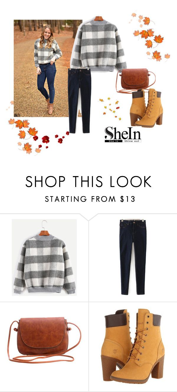 """Shein 3"" by zerina913 ❤ liked on Polyvore featuring WithChic, Timberland and shein"