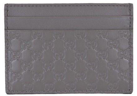 91a76a6c23e0 AUTHENTIC NEW Gucci Soft Gray GG Leather Microguccisima Card Case #476010  #fashion #clothing