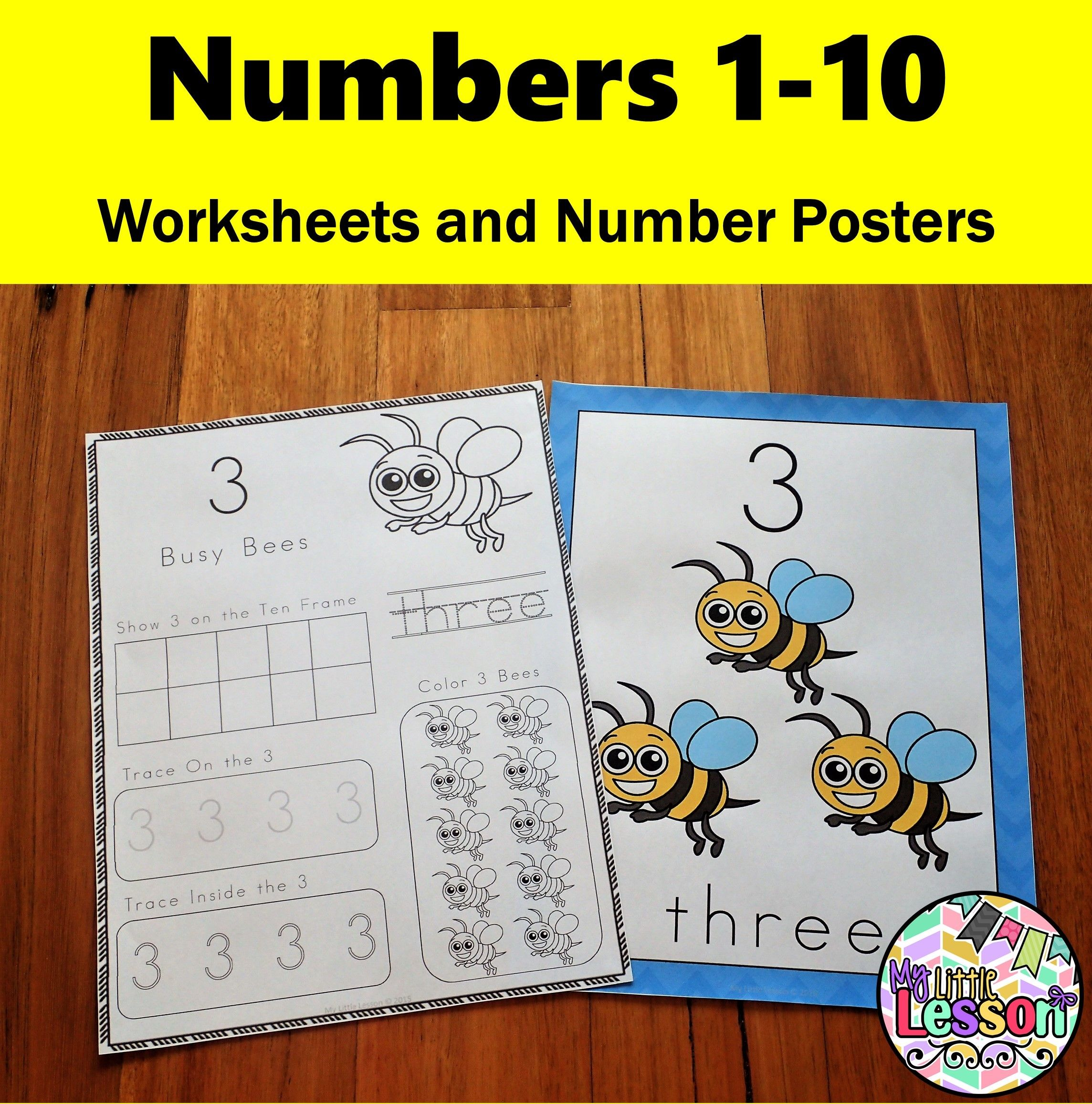Numbers 1 10 Worksheets And Number Posters
