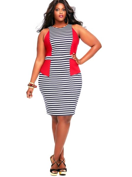 Heidi Stripe Yacht Dress- Red - Clothing - Monif C