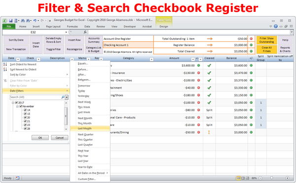 Georges Budget For Excel V12 0 With Images Budgeting Monthly