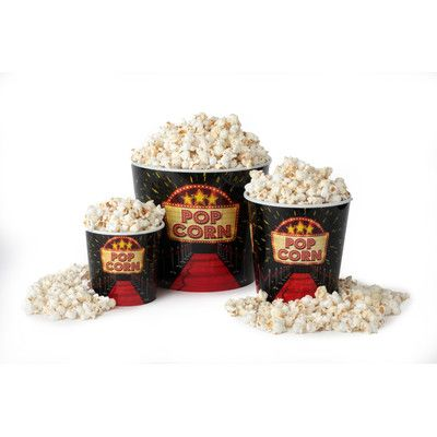 Wabash Valley Farms 3 Piece Red Carpet Movie Night Popcorn Serving Bowl Set
