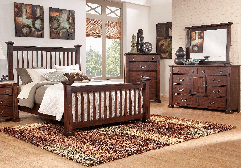 Clairfield tobacco pc queen slat bedroom queen bedroom sets