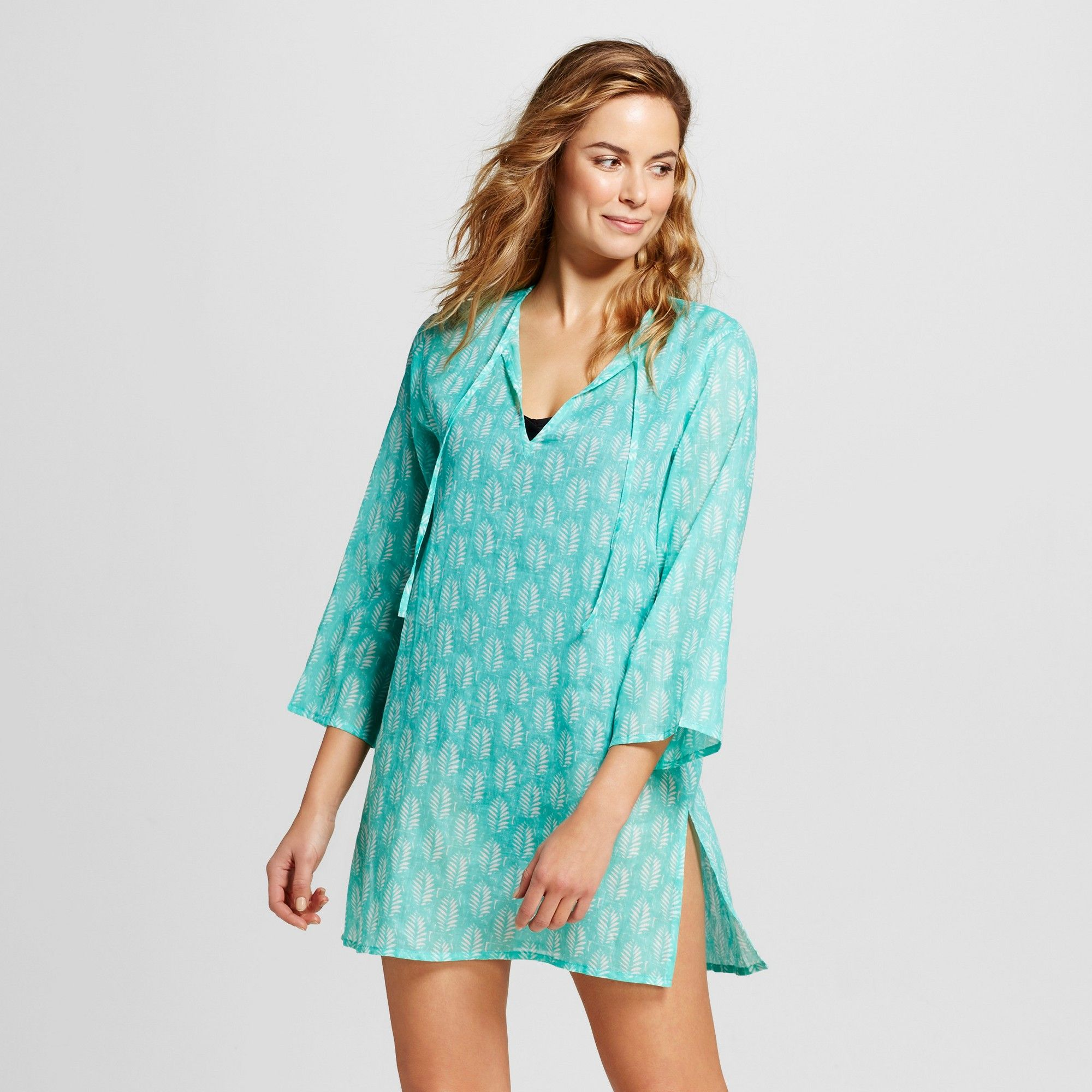 Women S Beach Tunic Dresses Island Turquoise L Flora By