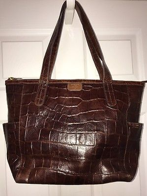 0dd6c8a1f07c Fossil Women s Brown Leather Handbag Purse Issue No 1954 Large L ...