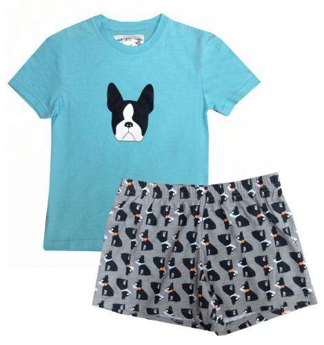 Boston Terrier Pajamas and Lounge Wear - Boston Terrier Wear ... 58e72d679