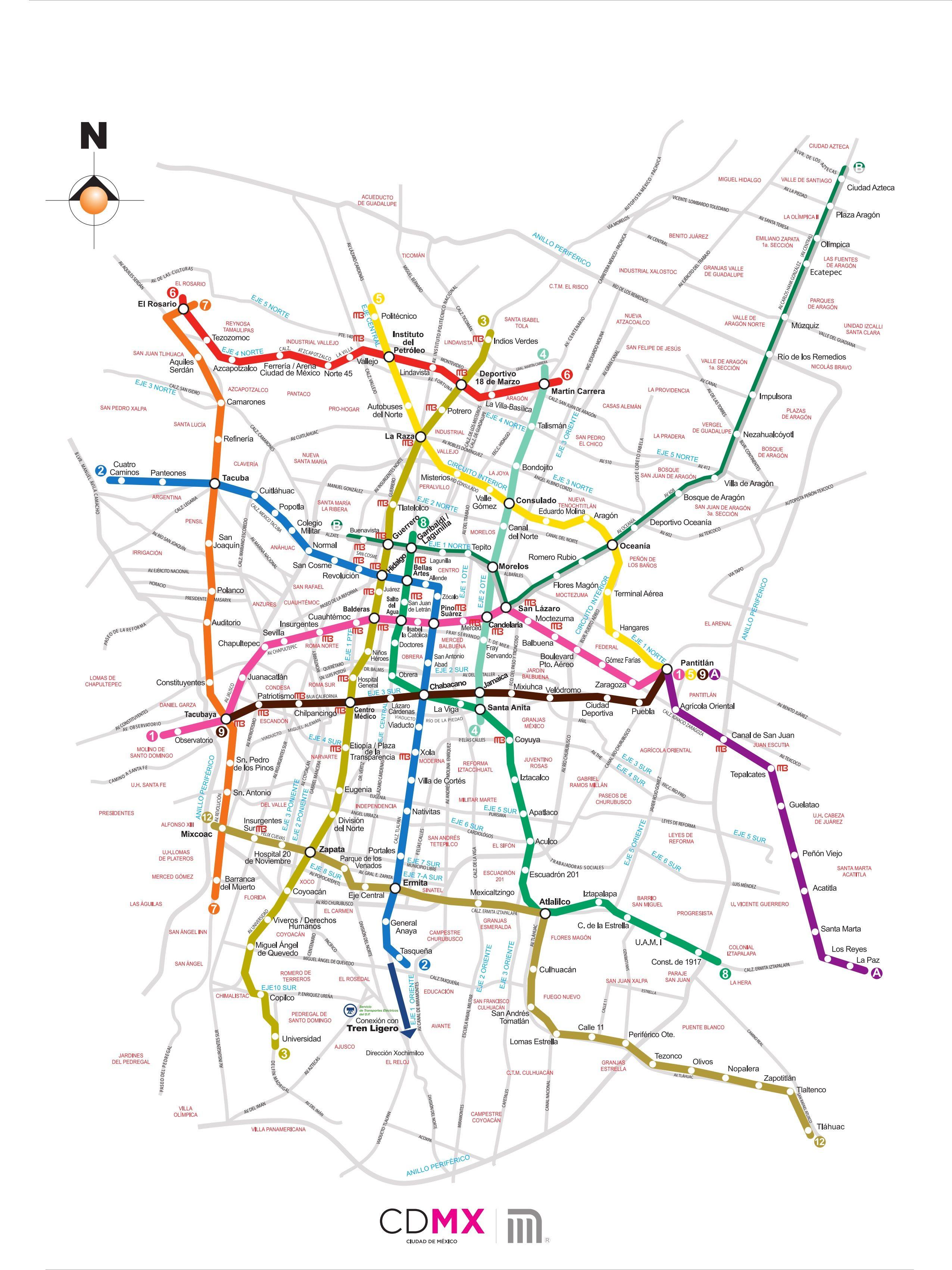 Mapa de la Red | Mapa del metro, Metro ciudad de mexico, Ciudad de mexico  mapa