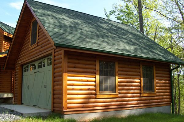 Garages Plus 2 Car Log Sided Garage Garage Design Log Siding Garage Plans With Loft