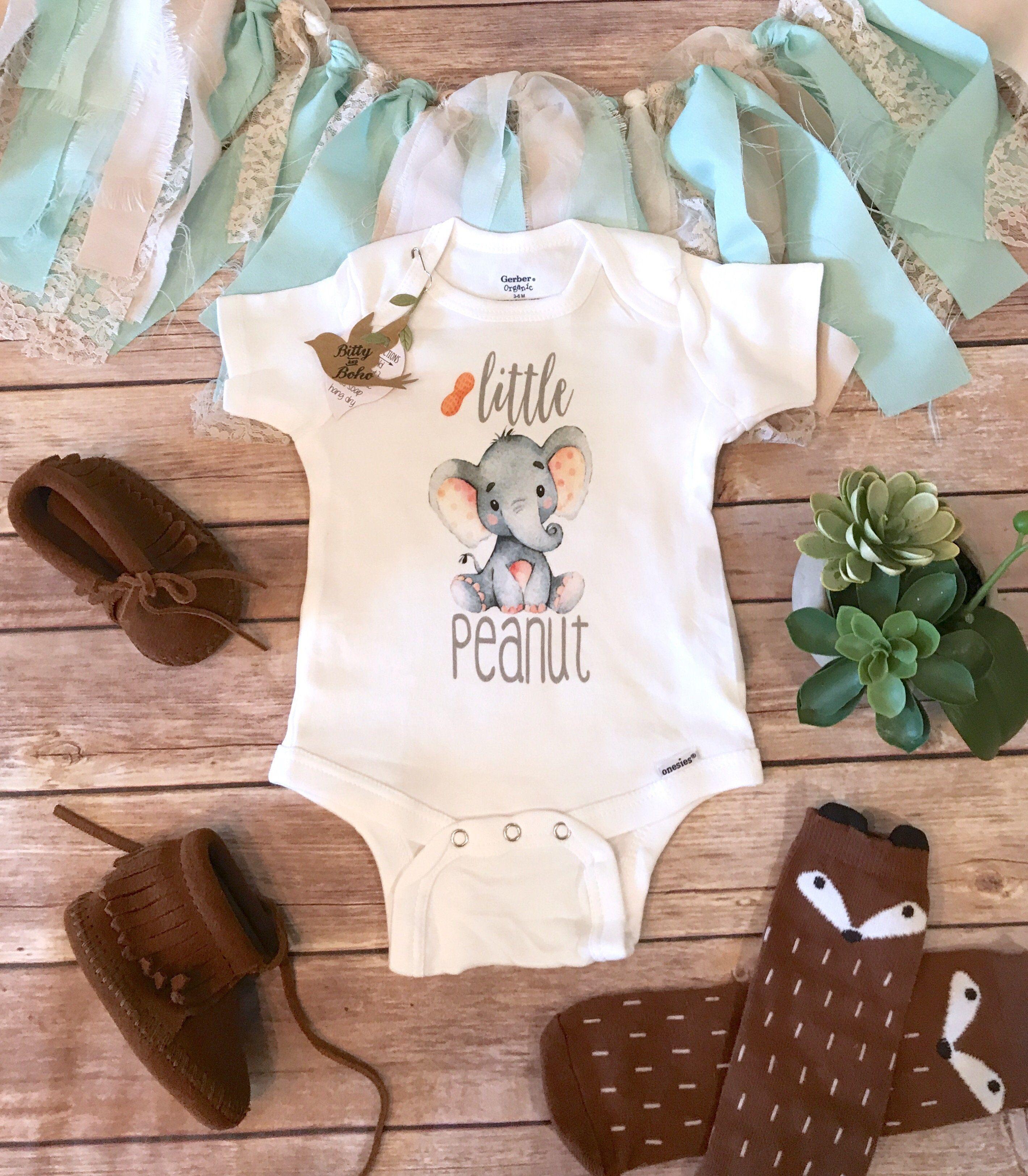 91c17014c Little Peanut Elephant Onesie®   Blotty   Boho baby clothes, Unisex ...
