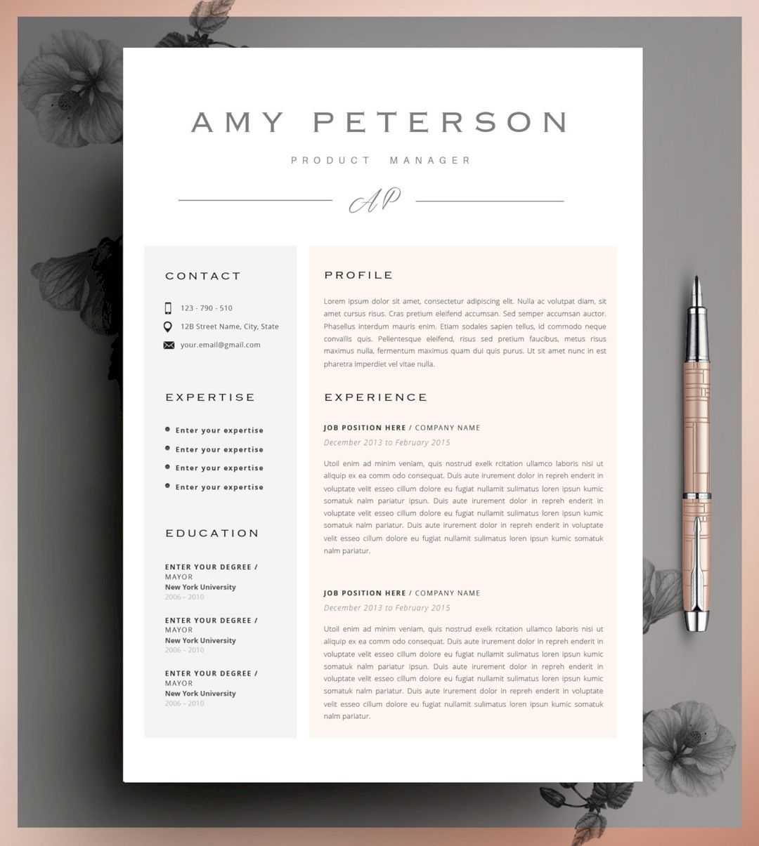 Cool Resume Templates 61 Cool Resume Design Ideas  Resume Ideas