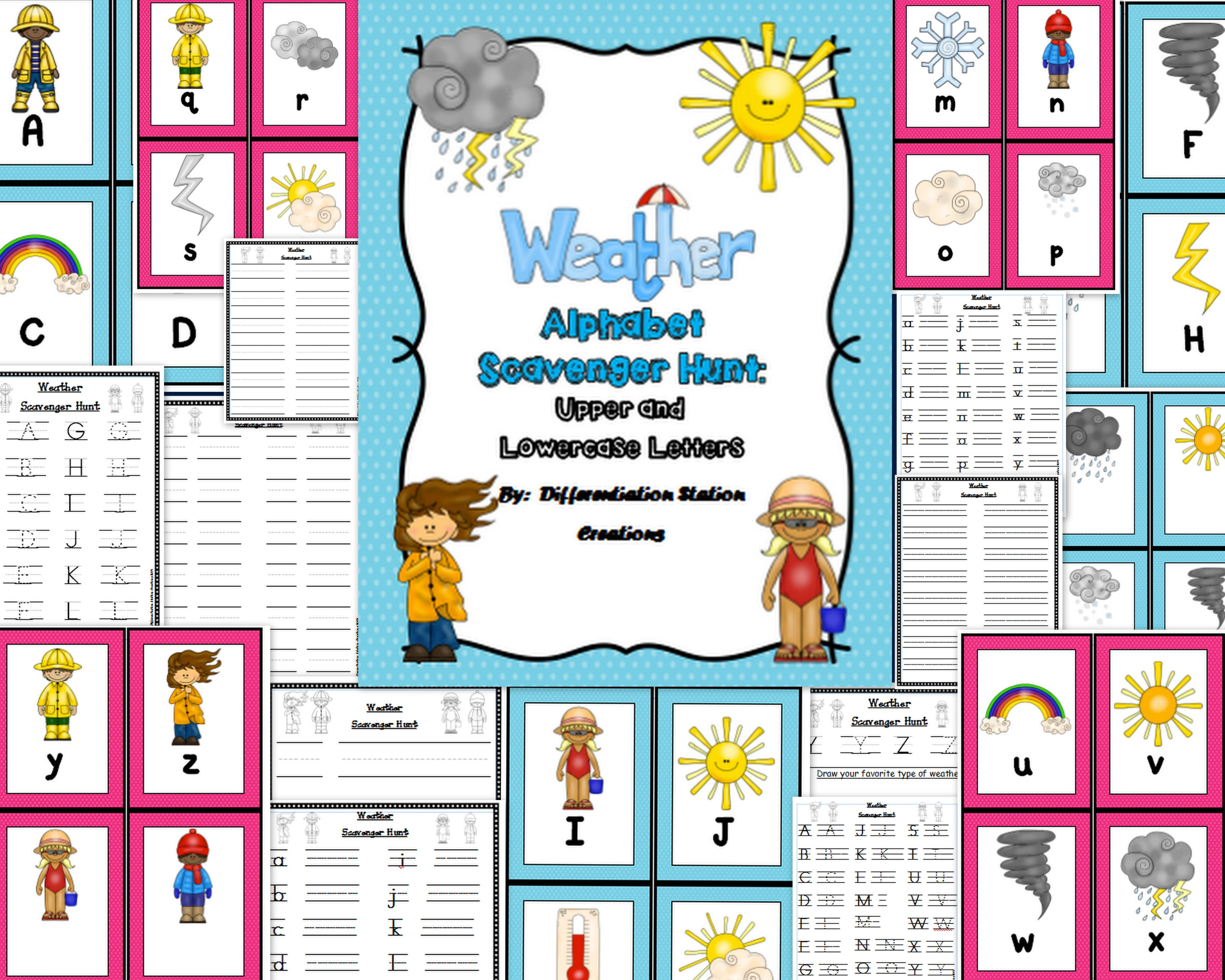 Weather Alphabet Scavenger Hunt Upper And Lowercase