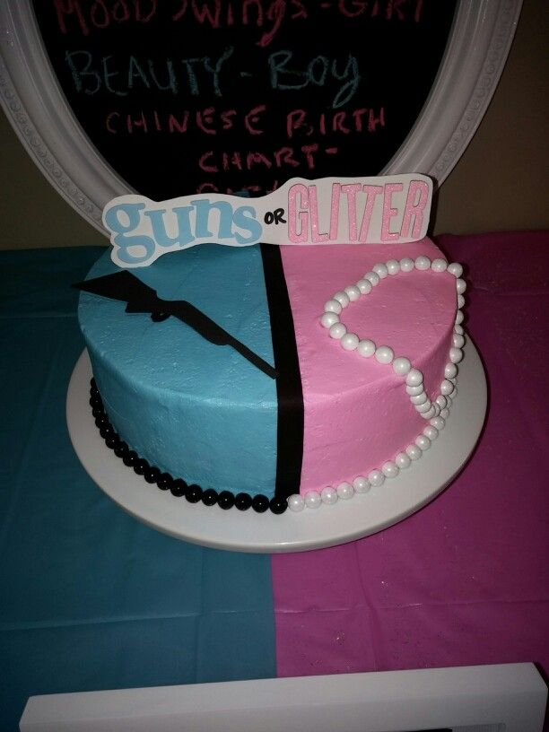 Pin By Amy Clark On Pretty N Pastries Gender Reveal Cake Glitter Gender Reveal Baby Shower Gender Reveal