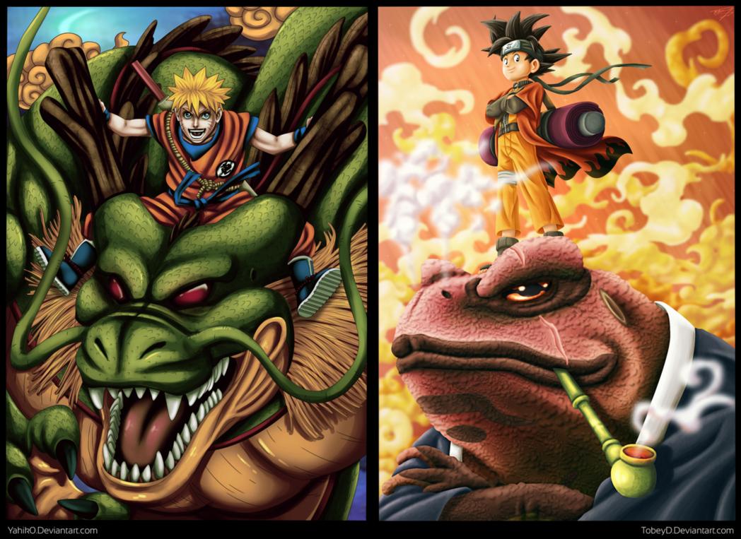 Collab Naruto Son Goku Son Goku Naruto Deadpool Hd Wallpaper